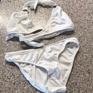 Brand New white two piece bathing suit